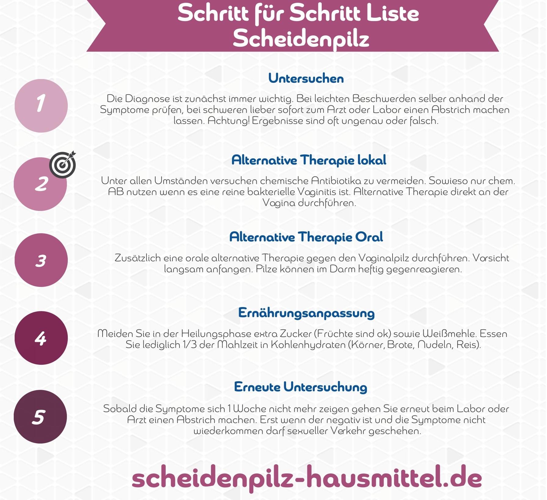 Scheidenpilz-Hausmittel-Infografik